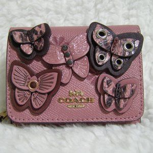 Coach Butterfly Applique Small Tri-fold Wallet